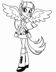 Equestria Girl Twilight Sparkle At School Coloring Page