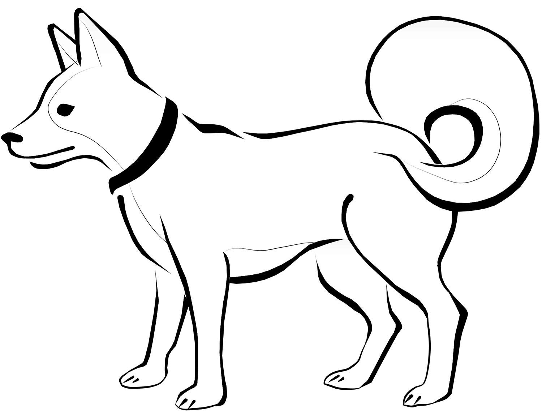 Eskimo dog Coloring Page