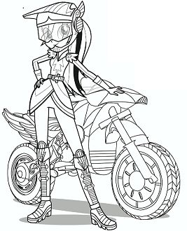 Esquetria Girl From My Little Pony Coloring Page