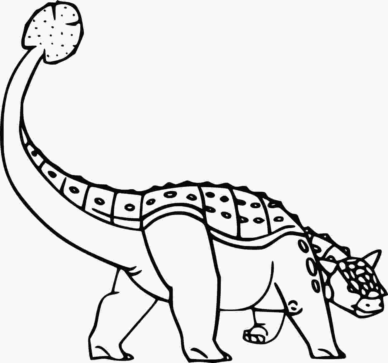 Euoplocephalus is a genus of ankylosaurid dinosaur that originated from Late Cretaceous North America Coloring Page