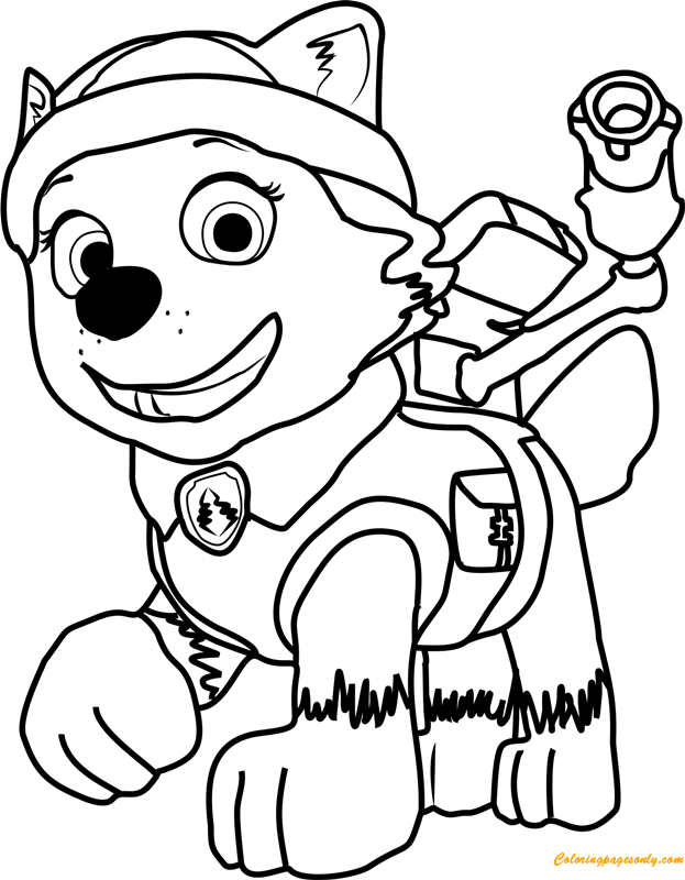 everest from paw patrol coloring page - Paw Patrol Coloring Book