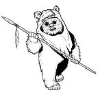 Ewok from Star Wars Coloring Page