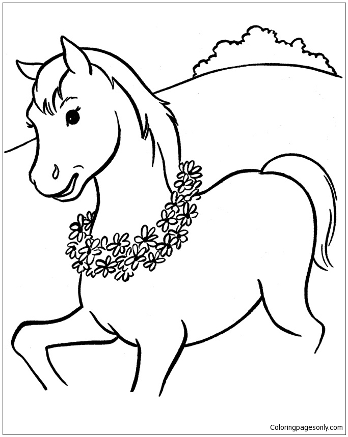 Excellent Horse Coloring Page