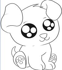 Exciting Puppy Coloring Page