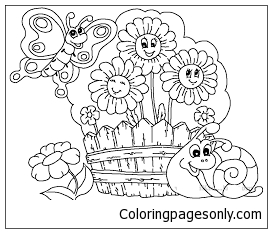 Fabulous Flower Garden Coloring Page