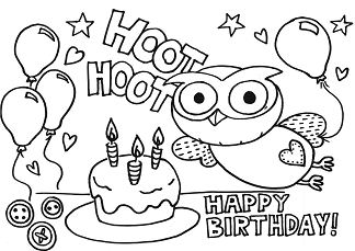 Fabulous Happy Birthday Coloring Page