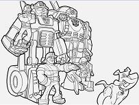 Fabulous Rescue Bots Chase Coloring Page