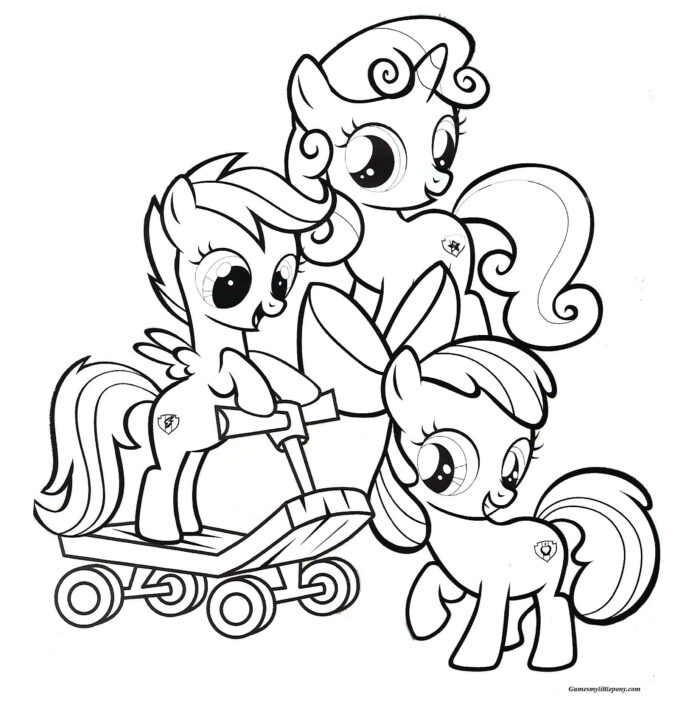 Fabulous twilight my little Coloring Page