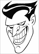 Face Of Joker  from Batman Coloring Page