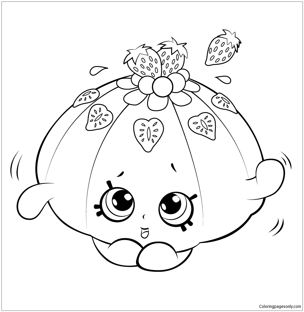 Faces Cute Jello Shopkins Coloring Page - Free Coloring Pages Online