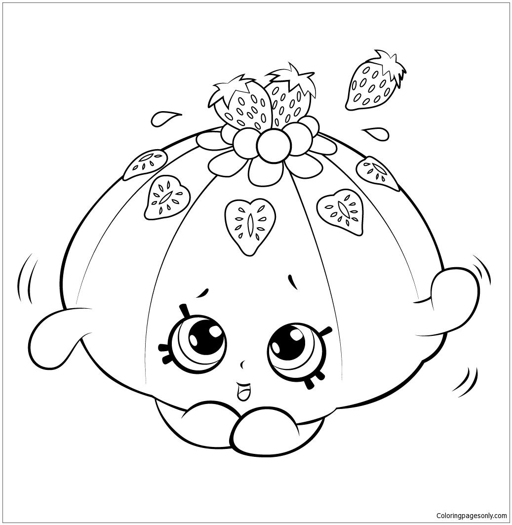 Faces Cute Jello Shopkins Coloring Page