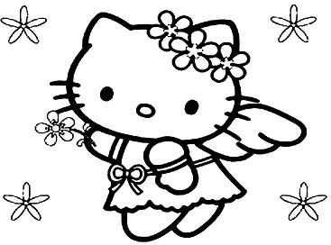 Hello Kitty Easter Bunny coloring page | Free Printable Coloring Pages | 272x367