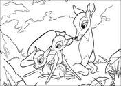 Faline Plays With Bambi And His Mom from Bambi Coloring Page