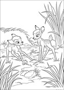 Faline With Bambi  from Bambi Coloring Page