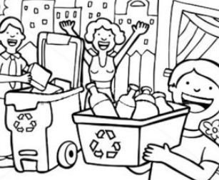 Family Learn The Use of Recycling