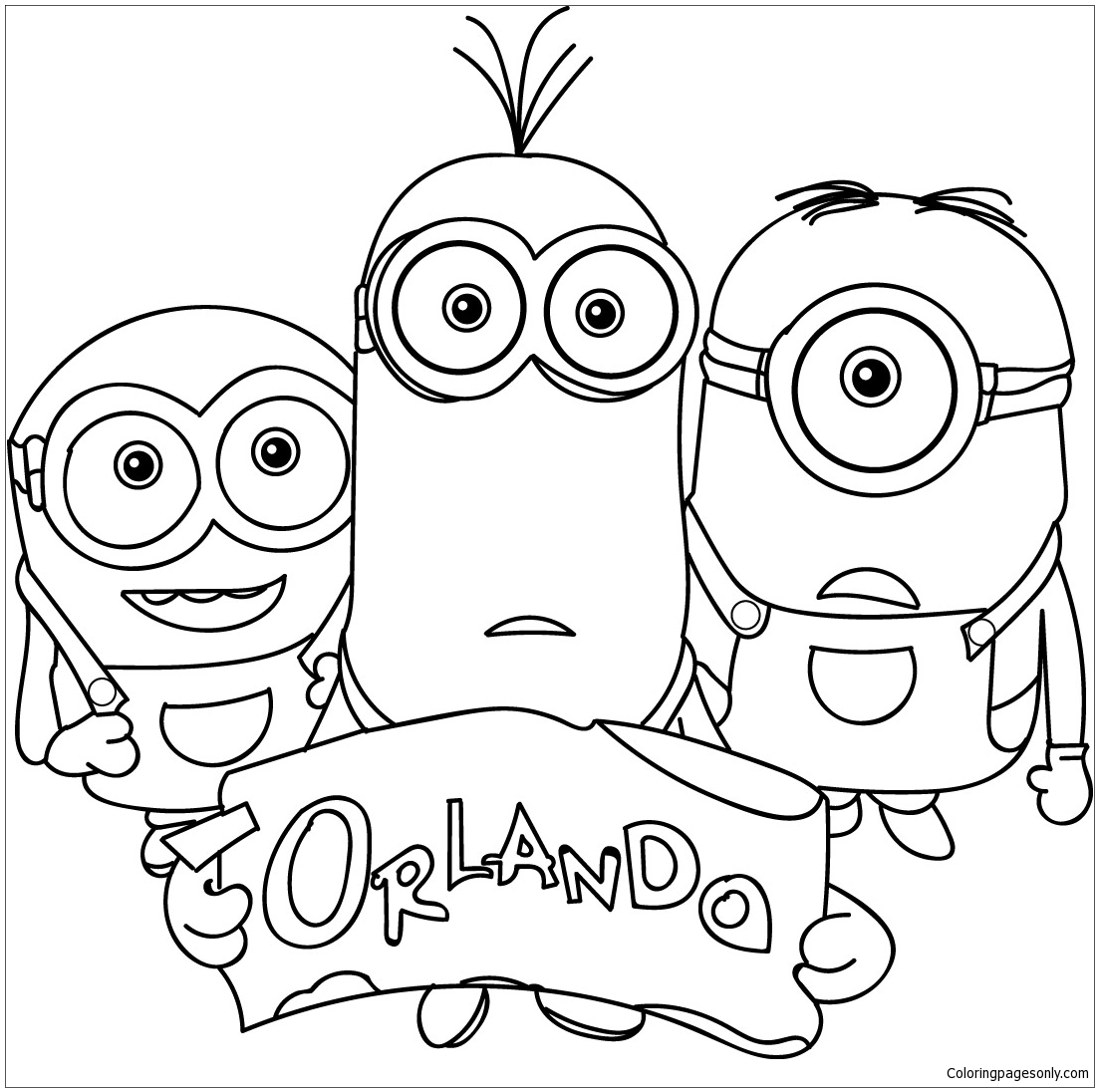 Family Minions Coloring Page