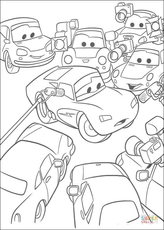 Congratulations To McQueen From Disney Cars Coloring Page