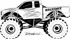 Famous Monster Truck Bigfoot Coloring Page