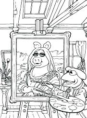 Famous Painting 4 Coloring Page