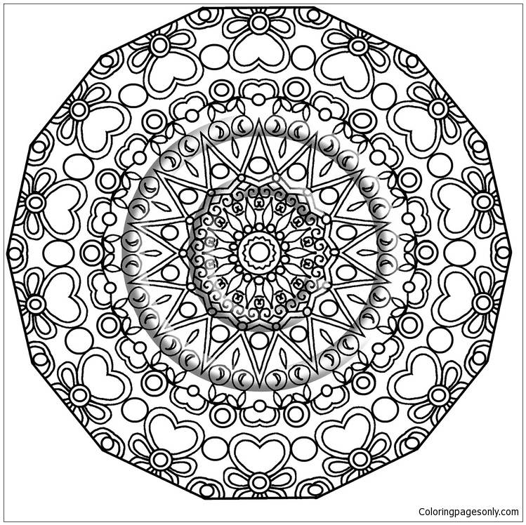 Fancy Mandala Coloring Page