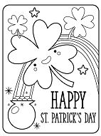 Fancy St. Patricks Day Coloring Page