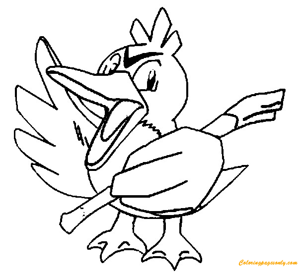 Farfetchd Pokemon Coloring Page Free Coloring Pages Online