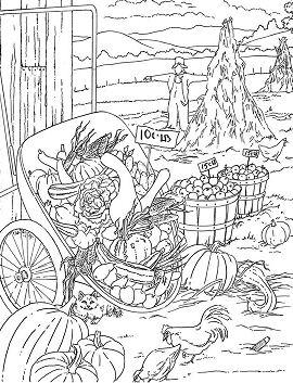 Farm Garden Coloring Page