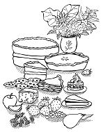 Fascinating Desserts Coloring Page