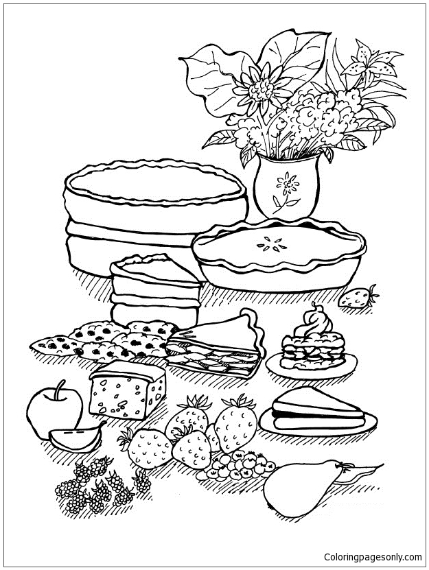 Fascinating Desserts Coloring Pages