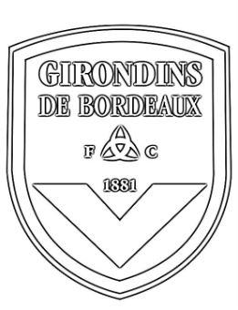 FC Girondins de Bordeaux Coloring Page