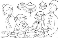 Feast Chinese New Year  Coloring Page