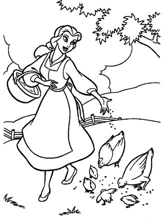 Feed the birds Coloring Page