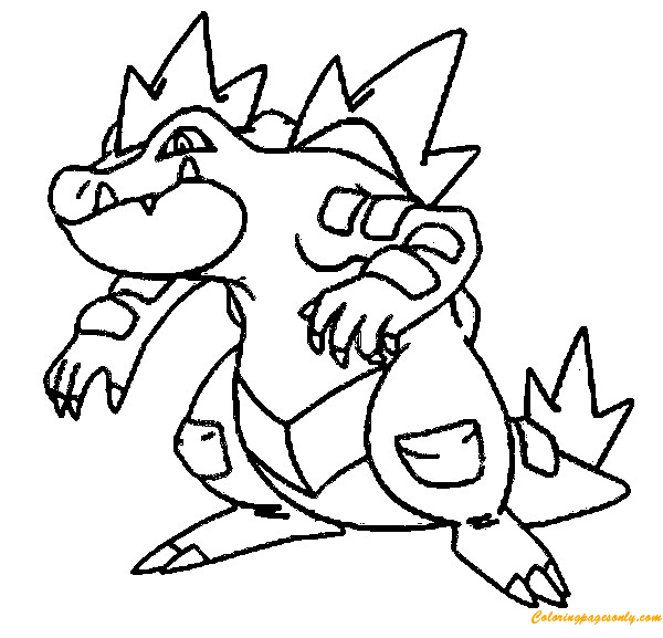 Feraligatr Pokemon Coloring Page - Free Coloring Pages Online