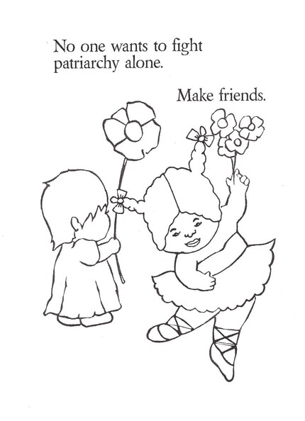 Fight patriarchy Coloring Page