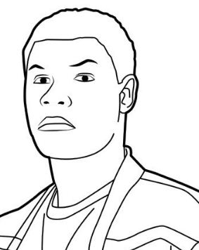 Finn From Star Wars Coloring Page