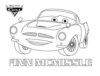 Finn Mcmissile Disney Cars Coloring Page