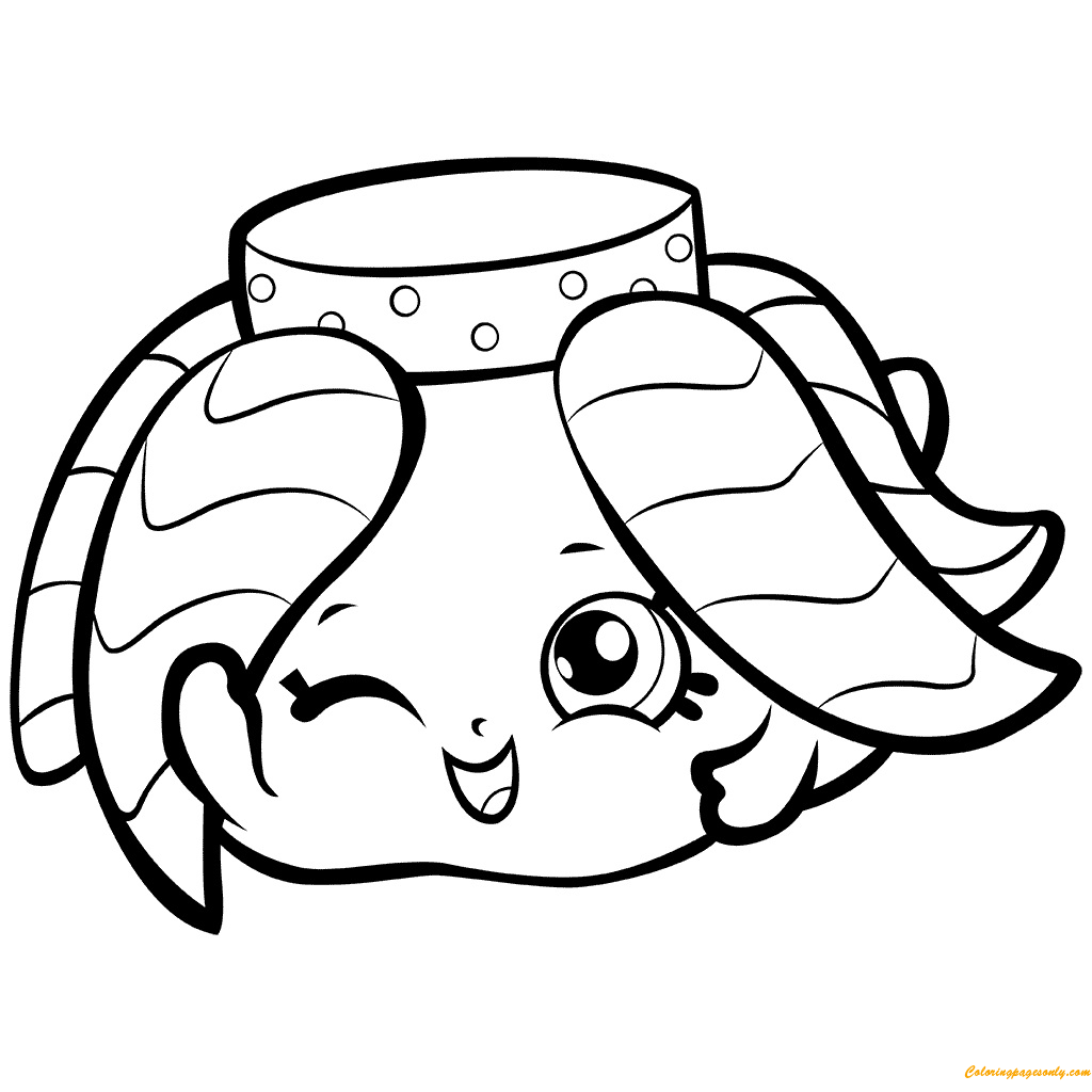 shopkins dolls coloring pages - fiona fairy skirt shopkin season 7 coloring page free