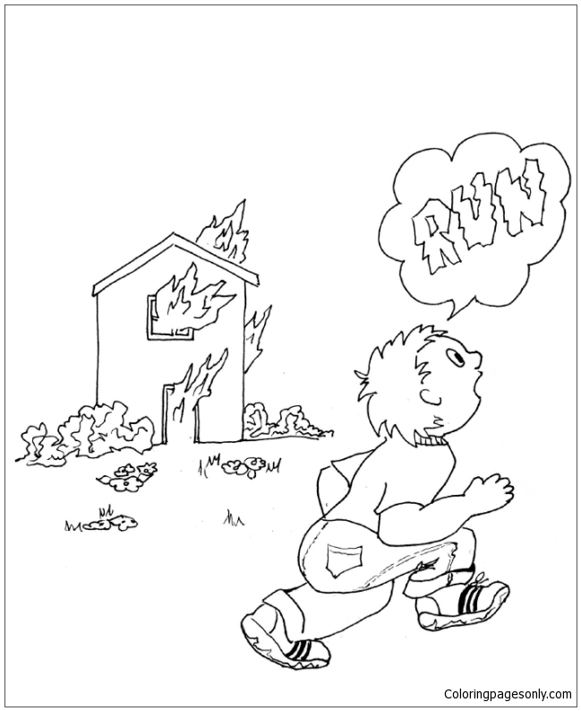 Fire Disaster Coloring Page