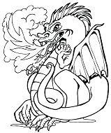 Fire Dragon 1 Coloring Page