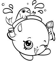 FishBowl Petkins Shopkins Coloring Page