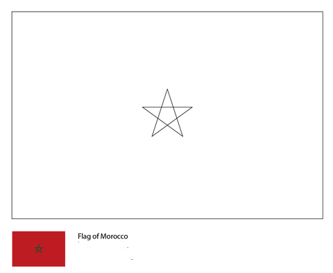 Flag of Morocco-World Cup 2018