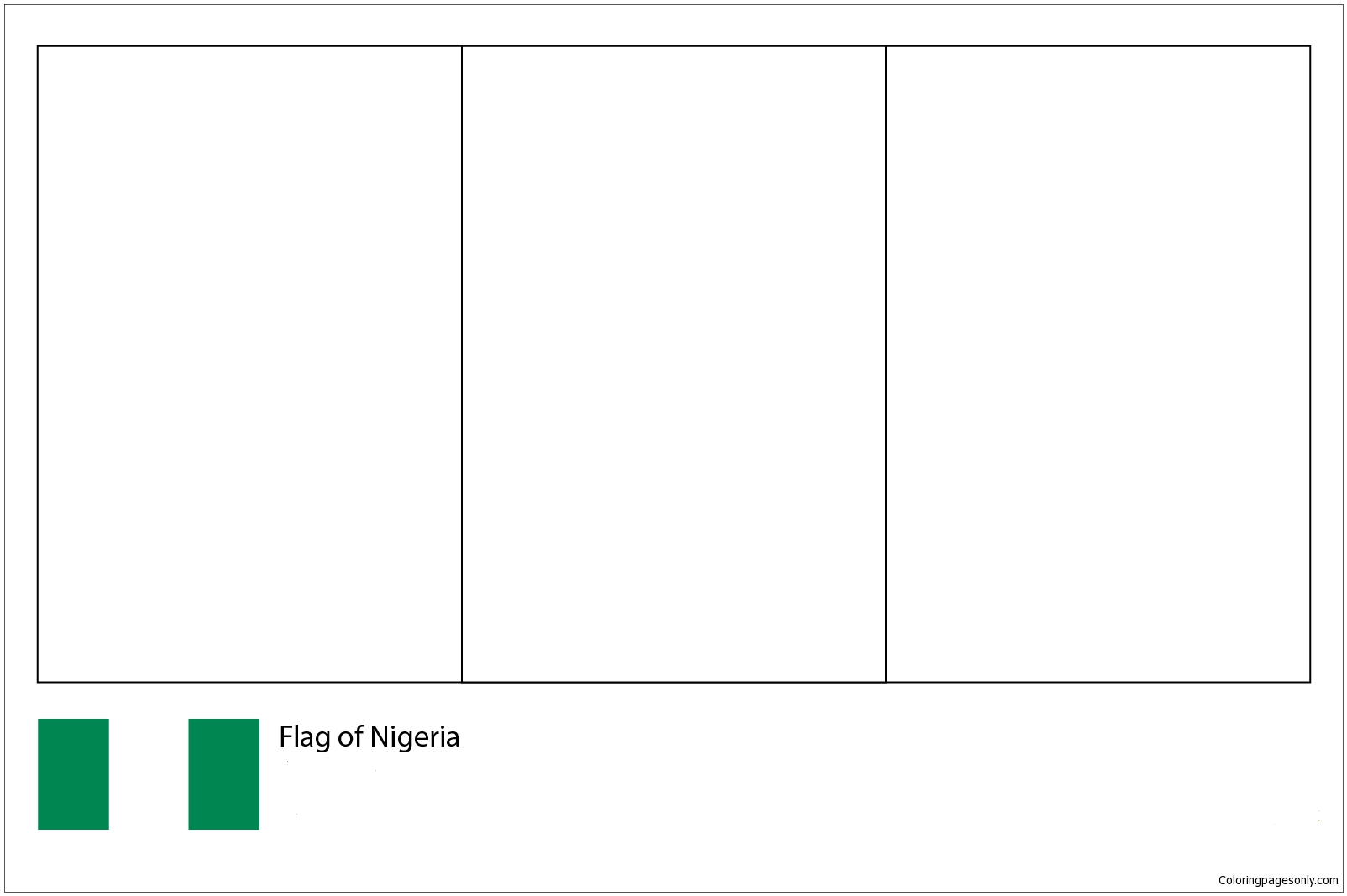 Flag Of Nigeria World Cup 2018 Coloring Page Free