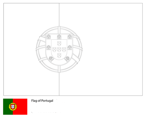 Flag of Portugal-World Cup 2018