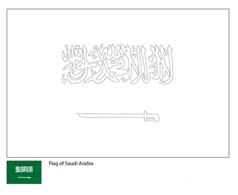 Flag of Saudi Arabia-World Cup 2018