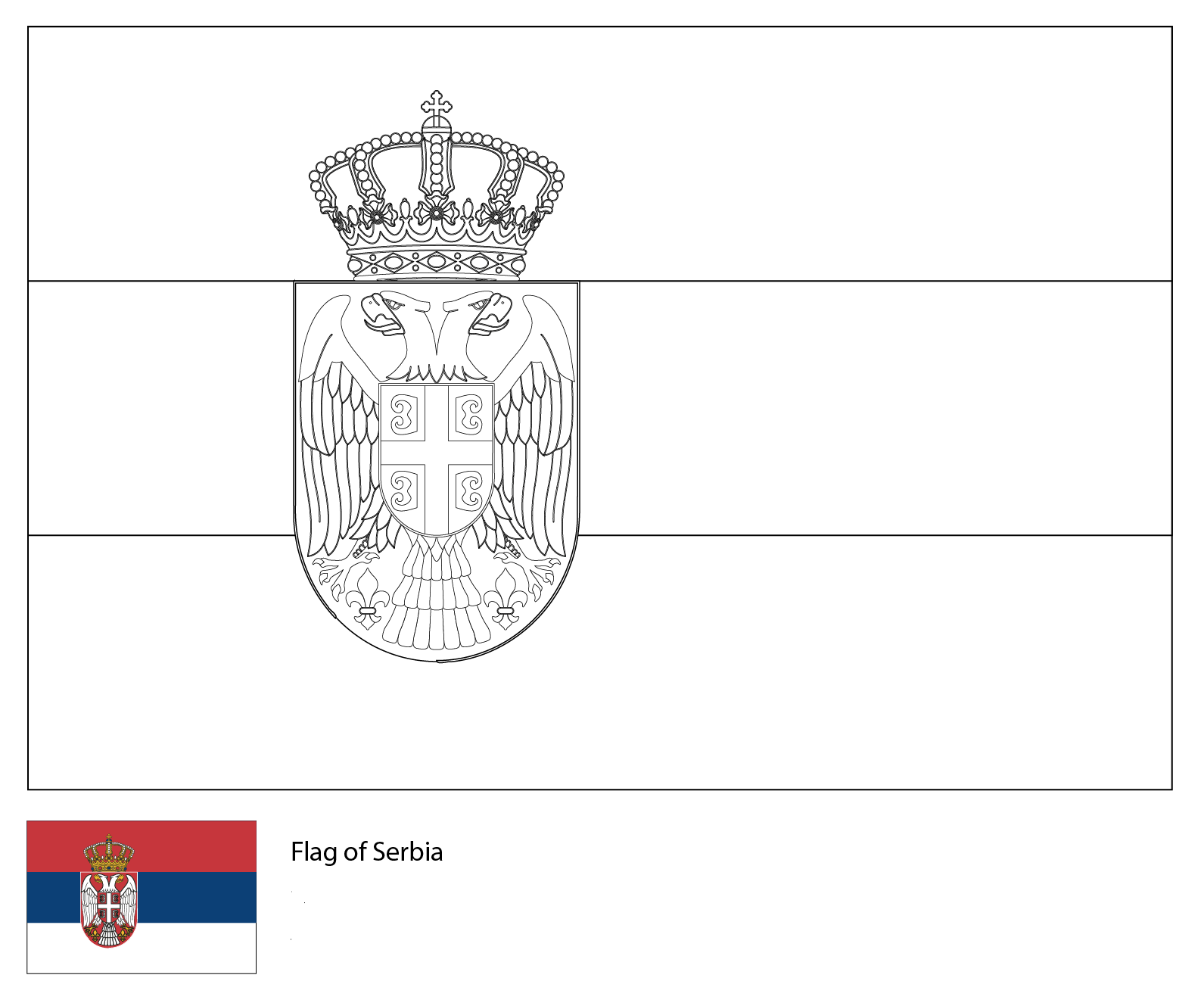 Flag of Serbia-World Cup 2018