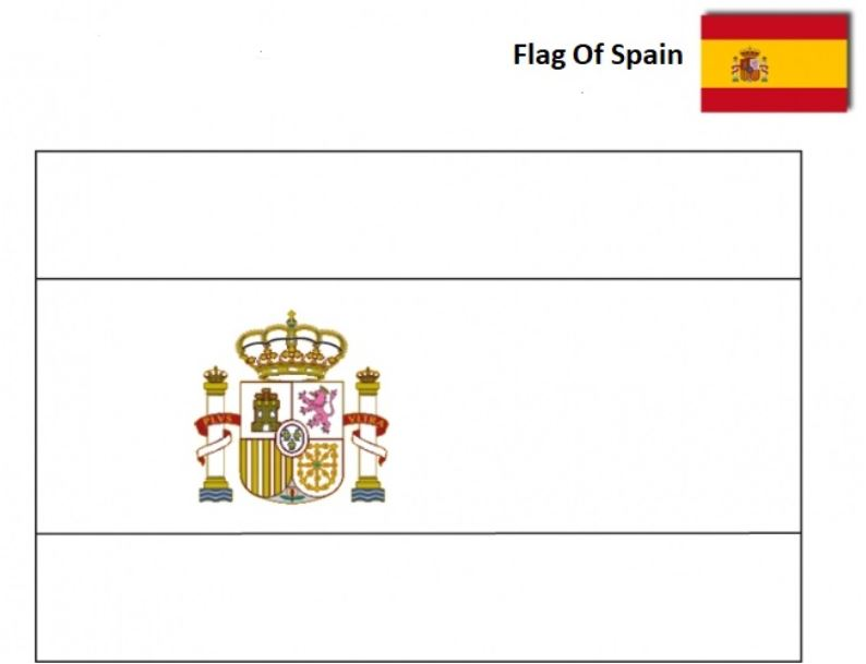 Flag of Spain-World Cup 2018