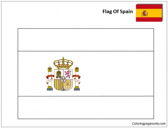 - Flag Of Spain-World Cup 2018 Coloring Page - Free Coloring Pages Online