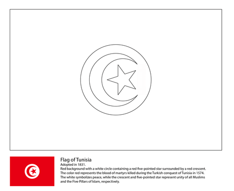 Flag of Tunisia-World Cup 2018