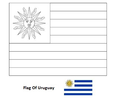Flag of Uruguay-World Cup 2018
