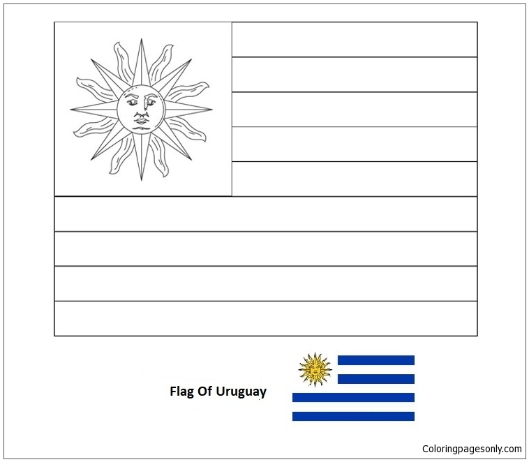 - Flag Of Uruguay-World Cup 2018 Coloring Page - Free Coloring Pages Online